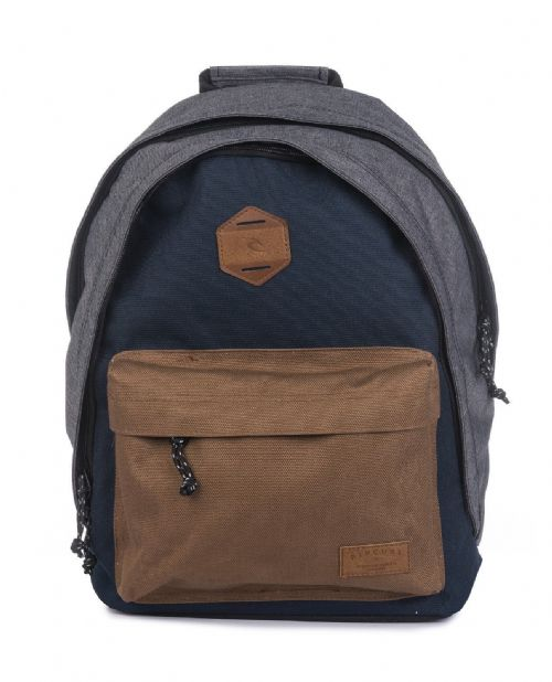 RIP CURL MENS BACKPACK.DOUBLE DOME STACKA A4 NAVY SCHOOL RUCKSACK BAG 8W S2 49